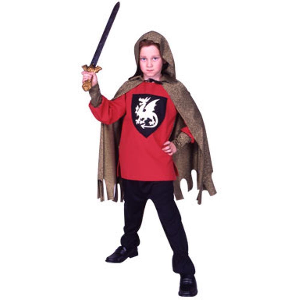 Amazon.com: Kid s Disfraz de caballero rojo (Tamaño: Medio ...