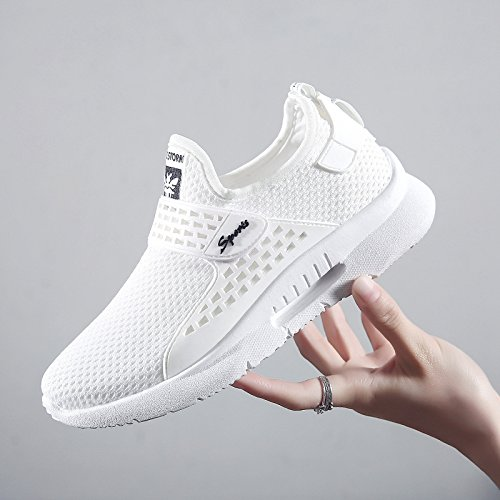 STEELEMENT Lightweight Breathable Sneakers Casual Running Shoes White Shoes Women's Fashion Walking xwY41OnY0