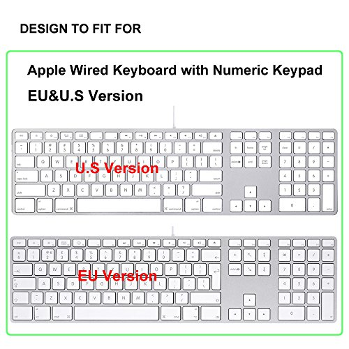 proelife ultra thin silicone keyboard protective cover skin for apple imac aluminum wired. Black Bedroom Furniture Sets. Home Design Ideas