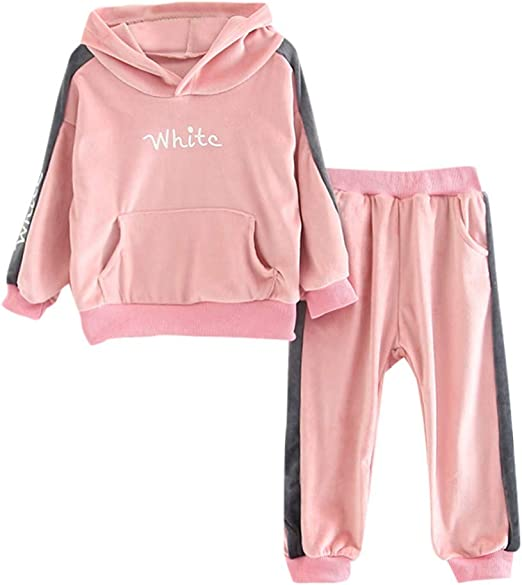 Baby Kids Boys Girls Long Sleeve Hooded Pullover Sweatshirt Blouse Tops Outfits Children Clothes on