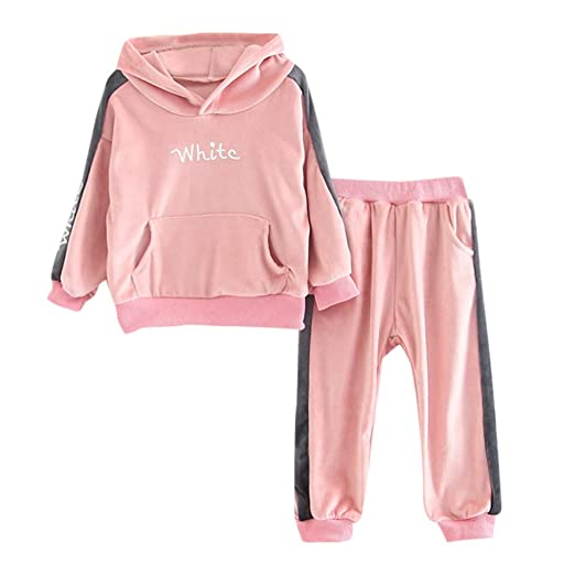 6c7c0a6e1 Amazon.com  Kehen Kid Toddler Boys Girls Stylish Sweatshirt Suit ...