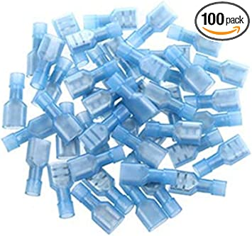 100pcs Wire Spade Connectors Waterproof Heat Shrink Fully Insulated Female