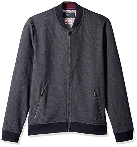 Ted Baker Men's Fowler Modern Slim Fit Ls Jersey Bomber, Navy 6 from Ted Baker