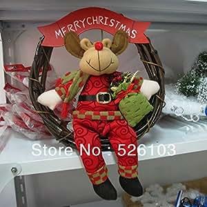 Nuevo tela de la navidad guirnalda navidad decoraci n for Amazon decoracion navidad