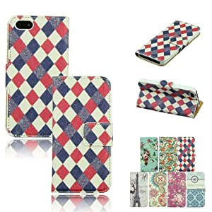 Voberry PU Leather Hard Back Flip Stand Wallet Case Cover Card Slot For iPhone 5 5S(3)