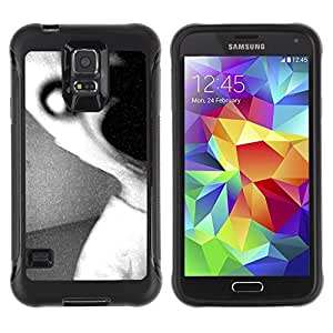 "Hypernova Defender Series TPU protection Cas Case Coque pour Samsung Galaxy S5 V [Oscuro Monster Scary Negro Blanco""]"