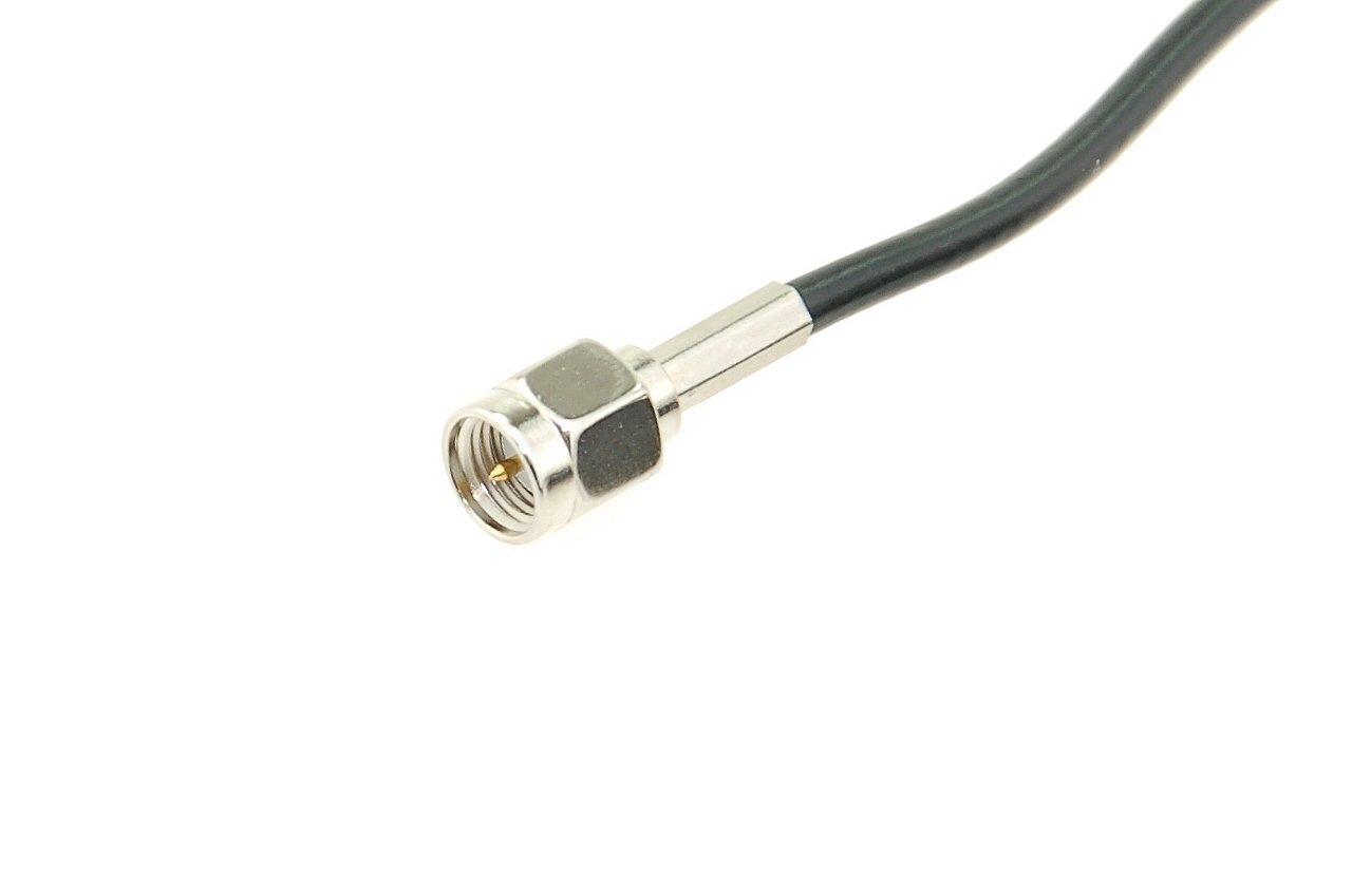 Antena de barra para redes 3G, 2G, GSM, WLAN, Bluetooth, HSDPA, UMTS, WIFI con base magnética y conector SMA/M con cable de conexión de 2,5 m con ganancia ...