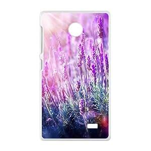 Sunshine And Lavender White Phone Case for Nokia Lumia X wangjiang maoyi