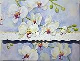 Carol Wilson White Orchids 10 ct Embossed Note Card Set For Arts Sake