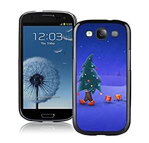 Recommend Design Walking Christmas Tree Man Black TPU Phone Case For Samsung Galaxy S3,Samsung I9300 Cases