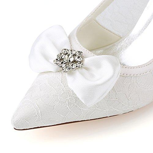 zapatos malla 4U® arco verano suela 8 tacones nudo de de puntiagudo Best Rhinestone primavera Zapatos KUKIE de mujeres las de altos noche CM encaje de novia goma de EU38 banquete de sandalias boda COzxqw5