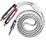 LyxPro Y-Cable 3.5mm Male to 2 RCA Male Stereo Audio Y-Splitter Adapter Cable - 3 Feet
