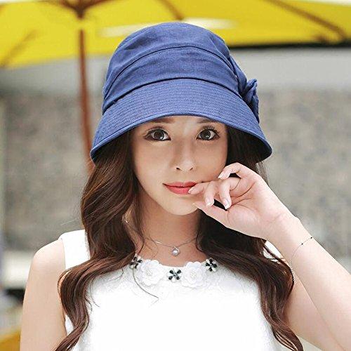 Transpirable Azul Wyyy Plegable color Aire Solar Lino Sombreros Visera 58cm Oscuro 56 Protección Sra Libre Beige CwUCR1rq