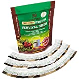Heirloom Seeds Non-GMO Vegetable Seed Kit - 50 Variety - Best For Gardening Or Emergency Food - Even Beginners Can Grow A Lush Green Garden - Download The Bonus Planting Guide Or Scan To Smart Phone