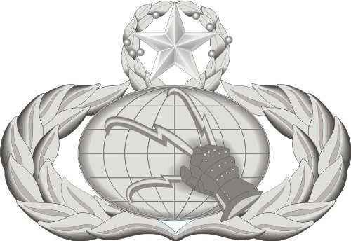 Magnet USAF Communications Badge Decal Sticker Military Veteran Served Car Bumper Sticker Magnetic Vinyl ()