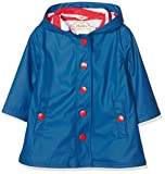 Hatley Girls Splash Rain Jacket, Blue (Navy/Red), 12 Years