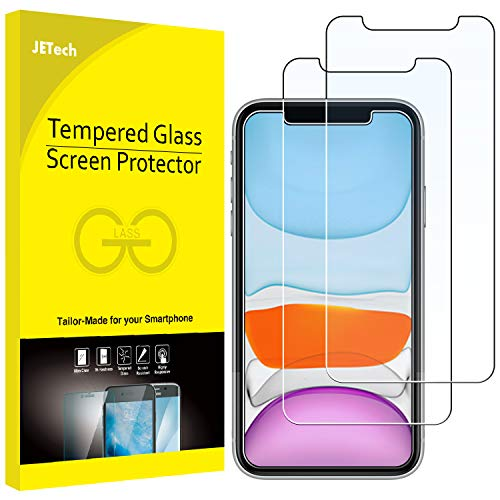 JETech Screen Protector for iPhone 11 and iPhone XR, 6.1-Inch, Tempered Glass Film, 2-Pack (Display 4 Iphon)
