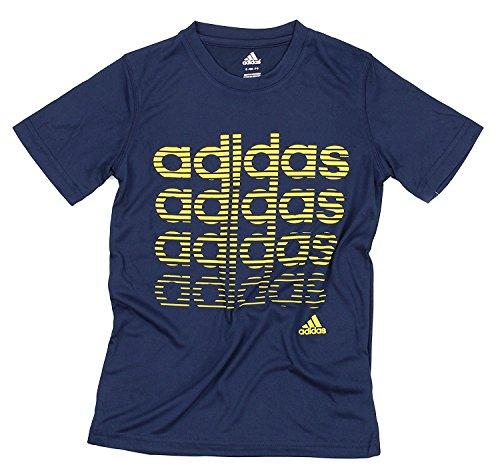 adidas Youth Big Boys Athletic T-Shirt (Small (8), (Adidas Soccer T-shirt)