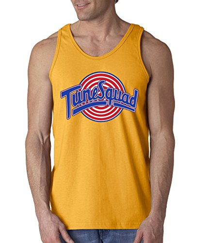 - New Way 487 - Men's Tank-Top Tune Squad Space Jam Basketball Team Large Gold