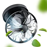 Finlon Portable solar fan, compact and stylish energy saving and environmental protection can be clip-type solar fan