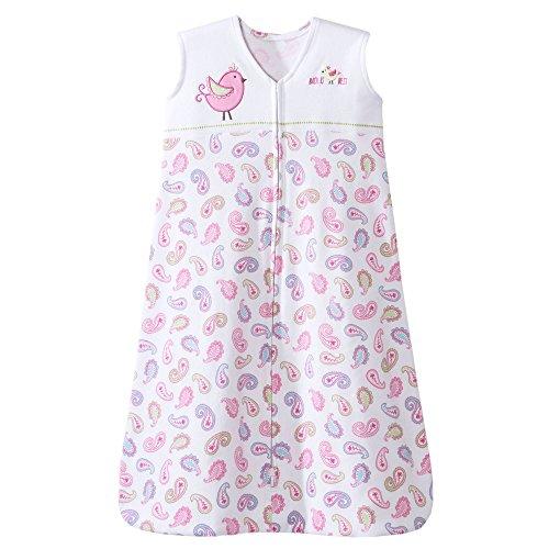HALO Sleepsack 100% Cotton Wearable Blanket, Pink Pretty Paisley, Small