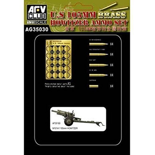 AFV Club 1:35 US 105mm Brass Howitzer Ammo Set #AG35030*