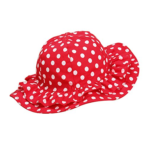 - Viva Fancy Toddler Kids Sunhats Hat Girls Boys Bucket Hat For 1-4Y Red/Black by