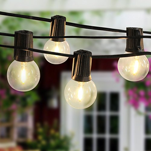 Globe String Lights, Wrcibo 18FT String Ligths with 10 G40 Bulbs Connectable Design Energy Saving Commercial Grade Lights for Indoor Outdoor Party Garden Patio Bistro Wedding Use (Warm White Blub) by Wrcibo
