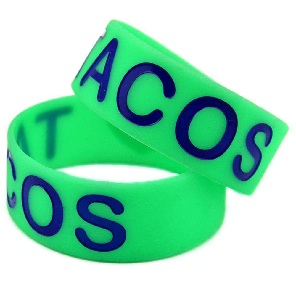 classique chic style attrayant luxuriant dans la conception Sxuefang Bracelets en Silicone avec Paroles « I Love Tacos ...