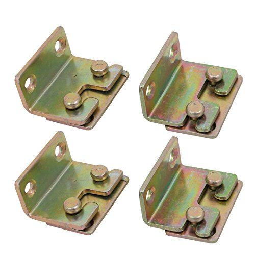 Bronze Fixed Rail - uxcell 32mmx25mmx17mm Screw Fixed Bed Hinge Rail Brackets Connecting Fittings 4 Sets