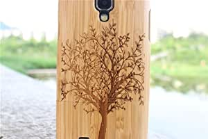 Matek: Spring Tree Bamboo Wooden Wood Hard Case Cover for Samsung Galaxy SIV S4 i9500