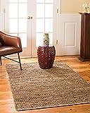 Natural Area Rugs 100% Natural Fiber Handmade Reversible Cosmo Jute Rectangular Rug (6' X 9') Brown