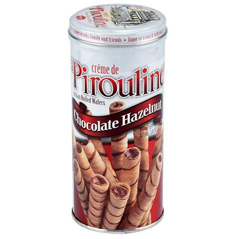 Creme De Pirouline Dark Chocolate Artisan Rolled Wafers All Natural 3.25 Oz Tins (2 ()