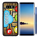 Luxlady Premium Samsung Galaxy Note8 Aluminum Backplate Bumper Snap Case IMAGE ID: 34402076 Aerial View of People and Cloud Computing Concepts