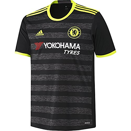 adidas Chelsea FC 2016/17 Away Jersey - Adult - Black/Solar Yellow/Granite - Small ()
