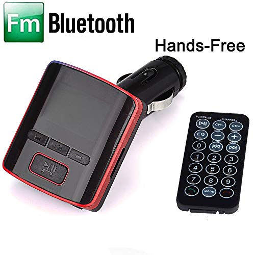 (Lljin i6 BT Dual USB Charger LCD Car Kit MP3 Bluetooth FM Transmitter with Hands-Free (Red))