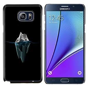 Caucho caso de Shell duro de la cubierta de accesorios de protección BY RAYDREAMMM - Samsung Galaxy Note 5 5th N9200 - Polígono Iceberg