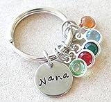 Custom Nana/Grandma/Mom/Mimi/Gigi stainless steel keychain.