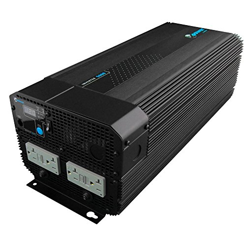 Xantrex 813-5000-UL XPower 5000 12V High Power Inverter, 4000W Max Continuous Power, 10000W Peak Surge Capacity Peak, Four GFCI AC Receptacles