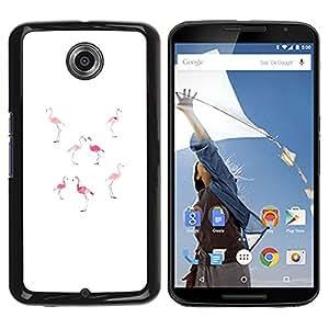 Be Good Phone Accessory // Dura Cáscara cubierta Protectora Caso Carcasa Funda de Protección para Motorola NEXUS 6 / X / Moto X Pro // Pink Peach White Minimalist Florida