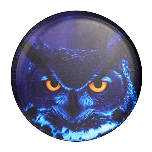 Rav4 Spare Tire (Moonet Blue Night Owl Spare Tire Wheel Cover Car Truck SUV Camper Fits Jeep Wrangler CRV FJ RAV4 H2 H3 Land Rover Discovery EcoSport Outlander Grand Vitara R15 M (Diameter 28