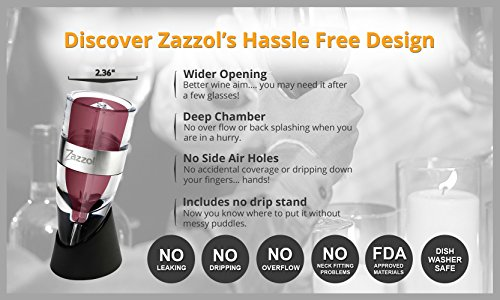 Zazzol Wine Aerator Decanter - Multi Stage Design with Gift Box - Recommended by Business Insider