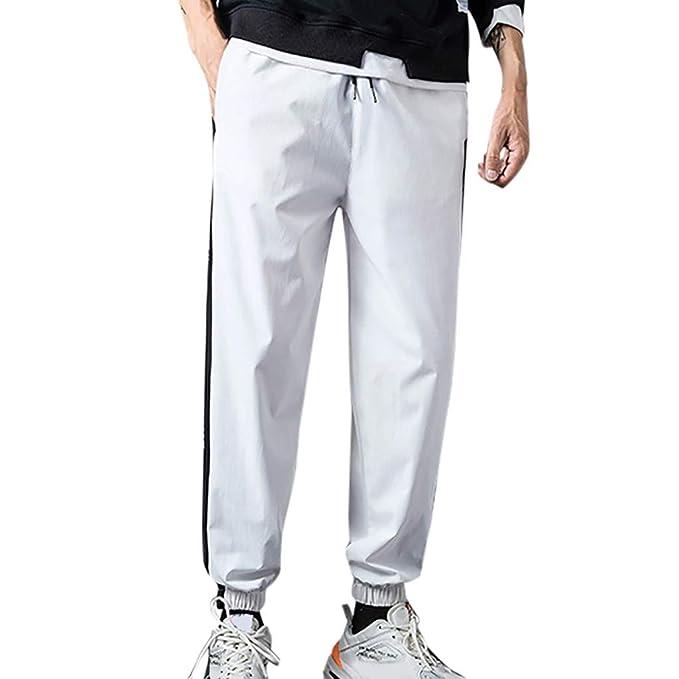 New mbre pantalones cintura elástico Pantalones de chándal de ...
