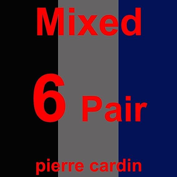 assorti noir ou de couleur pour les hommes avec lettrage /« Pierre Cardin /» Lot de 6 paires de socquettes de Pierre Cardin/®