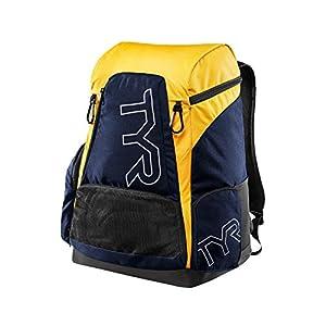 TYR LATBP45 Men's Alliance 45L Backpack, Navy/Gold - OS