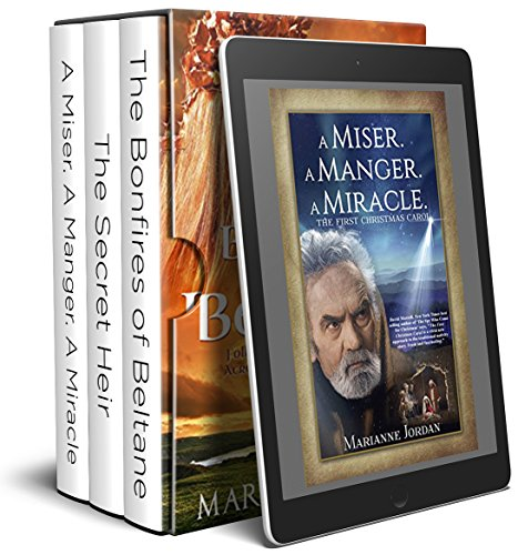 "Biblical Fiction Box Set: ""A Miser. A Manger. A Miracle."" ""The Bonfires of Beltane"" ""The Secret Heir"" (Blessed Sellers Religious Biblical Fiction Book 1) by [Jordan, Marianne, Fisher, Mark E., Broyles, Janice]"