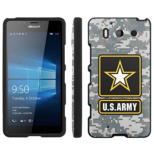 Price comparison product image [ArmorXtreme] Case for Microsoft Lumia 950 [Black] [Designer Image Shell Hard Cover Case] - [US Army Camo]