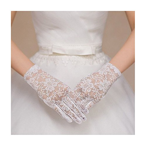 Ruiyuhong Lace White Black Wedding Dance Party Gloves LH213