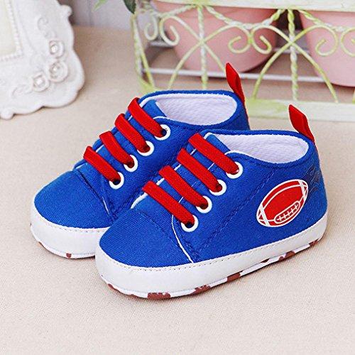 Jamicy® Babyschuhe, Neugeborene Jungen Mädchen Lace-Up Casual Weiche Sohle Prewalker Schuhe Blau