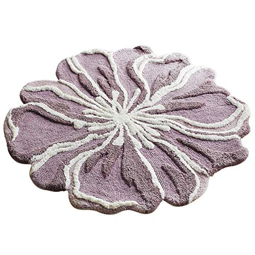 Pier 1 Imports Flower-Shaped 3' Round Lilac Bath Rug by Pier 1 Imports